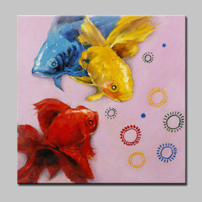 Buy COLORMIX Mintura Hand Painted Colorful Goldfish Canvas Oil Painting for $53.90 in GearBest store