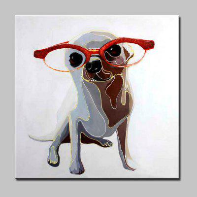Buy COLORMIX Mintura Hand Painted Abstract Glasses Dog Oil Painting for $53.90 in GearBest store