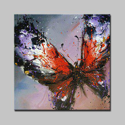 Mintura Hand Painted Colorful Butterfly Canvas Oil Painting