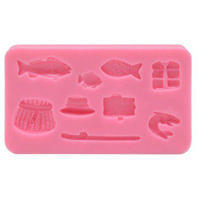 AK Fishing Pattern Cake Mold