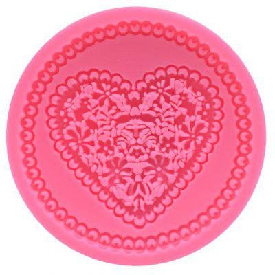 AK Heart Shape Flower Pattern Cake Decoration Mold