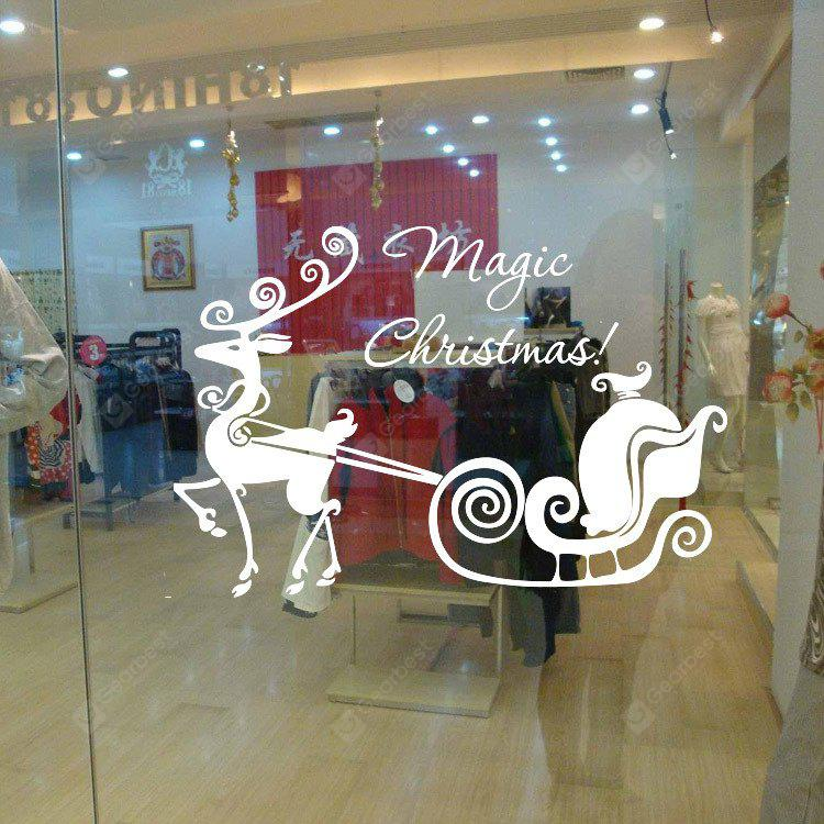 Buy MCYH Christmas Sled Glass Window Decor Stickers WHITE