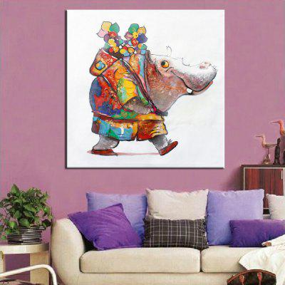 Mintura Hand Painted Abstract Hippo Canvas Oil PaintingOil Paintings<br>Mintura Hand Painted Abstract Hippo Canvas Oil Painting<br><br>Brand: Mintura<br>Craft: Oil Painting<br>Form: One Panel<br>Material: Canvas<br>Package Contents: 1 x Painting<br>Package size (L x W x H): 86.00 x 5.00 x 5.00 cm / 33.86 x 1.97 x 1.97 inches<br>Package weight: 0.5500 kg<br>Painting: Without Inner Frame<br>Product size (L x W x H): 75.00 x 75.00 x 0.10 cm / 29.53 x 29.53 x 0.04 inches<br>Product weight: 0.5000 kg<br>Shape: Square<br>Style: Animal<br>Subjects: Animal<br>Suitable Space: Bedroom,Hallway,Hotel,Living Room