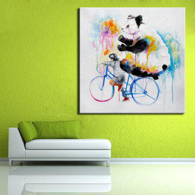 Mintura Hand Painted Abstract Bike Bear Oil PaintingOil Paintings<br>Mintura Hand Painted Abstract Bike Bear Oil Painting<br><br>Brand: Mintura<br>Craft: Oil Painting<br>Form: One Panel<br>Material: Canvas<br>Package Contents: 1 x Painting<br>Package size (L x W x H): 86.00 x 5.00 x 5.00 cm / 33.86 x 1.97 x 1.97 inches<br>Package weight: 0.5500 kg<br>Painting: Without Inner Frame<br>Product size (L x W x H): 75.00 x 75.00 x 0.10 cm / 29.53 x 29.53 x 0.04 inches<br>Product weight: 0.5000 kg<br>Shape: Square<br>Style: Animal<br>Subjects: Animal<br>Suitable Space: Bedroom,Hallway,Hotel,Living Room