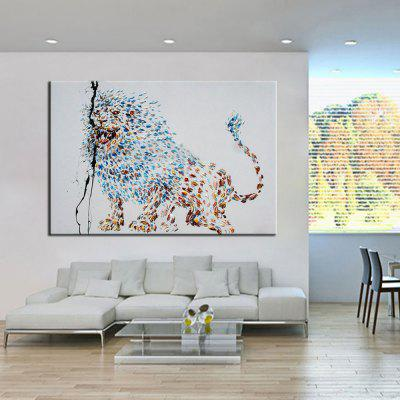 Mintura Hand Painted Lion Canvas Oil PaintingOil Paintings<br>Mintura Hand Painted Lion Canvas Oil Painting<br><br>Brand: Mintura<br>Craft: Oil Painting<br>Form: One Panel<br>Material: Canvas<br>Package Contents: 1 x Painting<br>Package size (L x W x H): 81.00 x 5.00 x 5.00 cm / 31.89 x 1.97 x 1.97 inches<br>Package weight: 0.8000 kg<br>Painting: Without Inner Frame<br>Product size (L x W x H): 120.00 x 70.00 x 0.10 cm / 47.24 x 27.56 x 0.04 inches<br>Product weight: 0.7000 kg<br>Shape: Horizontal<br>Style: Animal<br>Subjects: Animal<br>Suitable Space: Bedroom,Hallway,Hotel,Living Room,Office