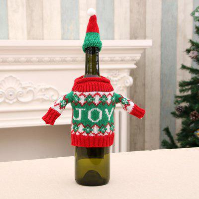 MCYH Cute Christmas Wine Bottle Décoration Tissu