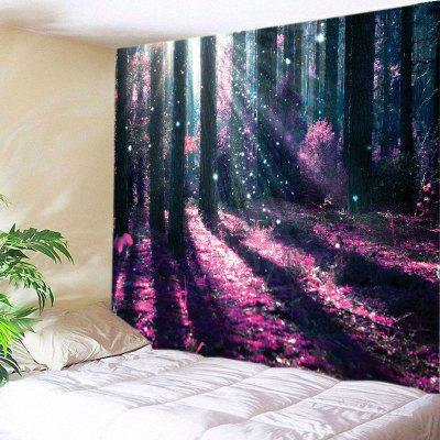 Buy TUTTI FRUTTI Wall Hanging Art Decor Sunlight Forest Flowers Print Tapestry for $16.31 in GearBest store