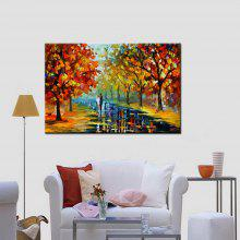 Mintura Colorful Grove Modern Canvas Oil Painting