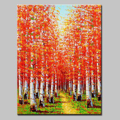 Mintura Hand Painted Maple Trees Canvas Home Decor Oil Painting