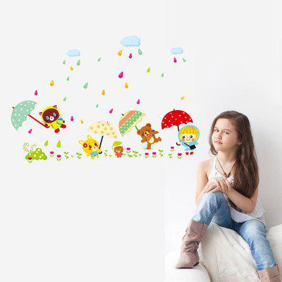 DSU Rainy Days of the Cubs Pattern StickerWall Stickers<br>DSU Rainy Days of the Cubs Pattern Sticker<br><br>Brand: DSU<br>Function: Decorative Wall Sticker<br>Material: Vinyl(PVC), Self-adhesive Plastic<br>Package Contents: 1 x Sticker<br>Package size (L x W x H): 45.00 x 6.00 x 6.00 cm / 17.72 x 2.36 x 2.36 inches<br>Package weight: 0.1400 kg<br>Product size (L x W x H): 45.00 x 60.00 x 0.10 cm / 17.72 x 23.62 x 0.04 inches<br>Product weight: 0.0900 kg<br>Quantity: 1<br>Subjects: Cartoon<br>Suitable Space: Bedroom,Kids Room,Kitchen,Living Room<br>Type: Plane Wall Sticker
