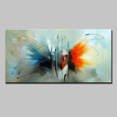 Mintura Abstract Butterfly Modern Canvas Oil Painting