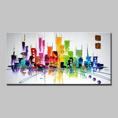 Mintura Abstract Decorative Urban Modern Canvas Oil Painting