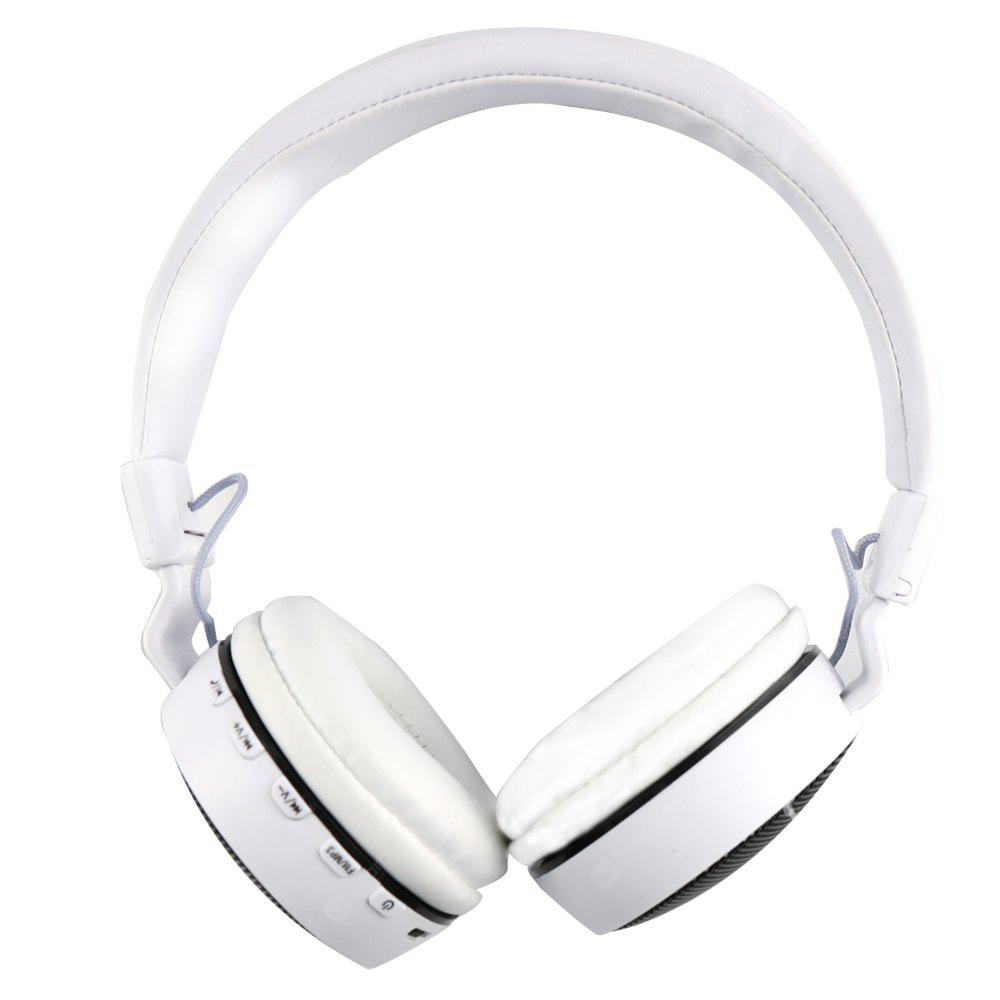 WHITE MS 661A Foldable Stereo Bluetooth Headset