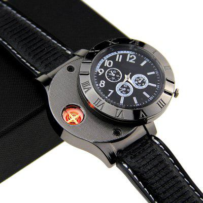 Creative USB Rechargeable Watch Flameless Cigarette LighterOther Camping Gadgets<br>Creative USB Rechargeable Watch Flameless Cigarette Lighter<br><br>Package Contents: 1 x USB Lighter Watch<br>Package Size(L x W x H): 13.00 x 9.30 x 2.50 cm / 5.12 x 3.66 x 0.98 inches<br>Package weight: 0.3000 kg<br>Product Size  ( L x W x H ): 11.50 x 7.30 x 1.50 cm / 4.53 x 2.87 x 0.59 inches<br>Product weight: 0.2600 kg