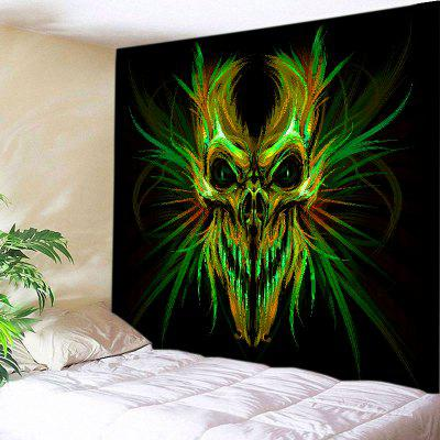 Buy COLORMIX Wall Hanging Art Decor Halloween Skull Print Tapestry for $16.31 in GearBest store