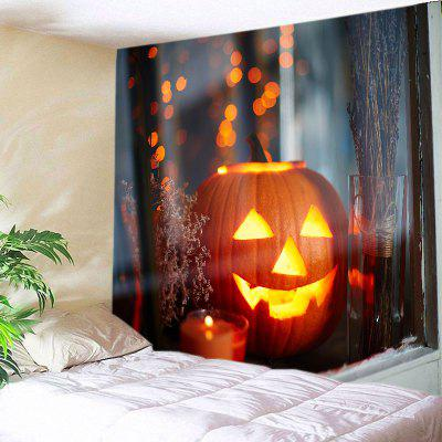 Buy JACINTH Wall Hanging Art Decor Halloween Window Pumpkin Print Tapestry for $14.03 in GearBest store