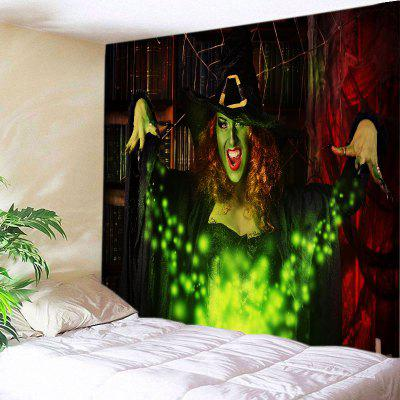 Buy COLORMIX Wall Hanging Art Halloween Witch Print Tapestry for $14.03 in GearBest store
