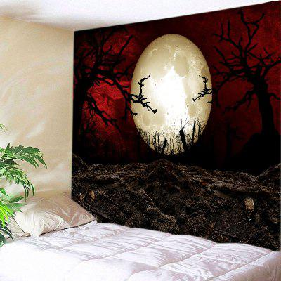 Buy COLORMIX Wall Hanging Art Decor Halloween Moon Night Print Tapestry for $14.03 in GearBest store