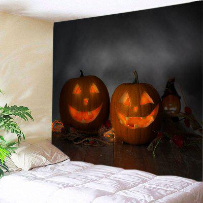 Buy JACINTH Wall Hanging Art Halloween Wood Floor Pumpkin Print Tapestry for $16.31 in GearBest store