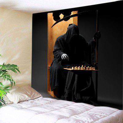 Buy BLACK Wall Hanging Art Decor Halloween Cloak Skeleton Print Tapestry for $14.03 in GearBest store