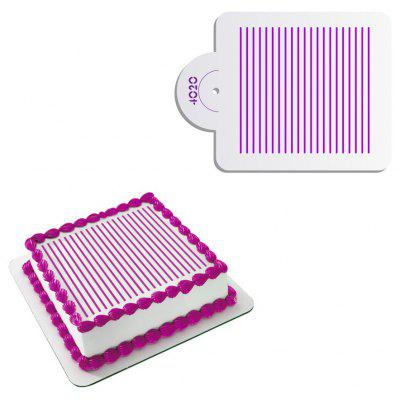 AK Simple Stripe Pattern Fondant Cake Stencil Mold