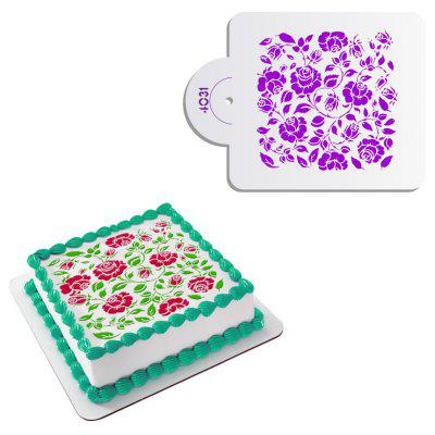 AK Rose Pattern Fondant Cake Decorating Stencil Mold