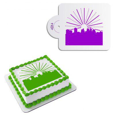 AK City Building Design Cake Spray Mold