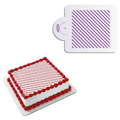 AK ST - 4005 DIY Diagonal Stripes Birthday Cake Spray Mold