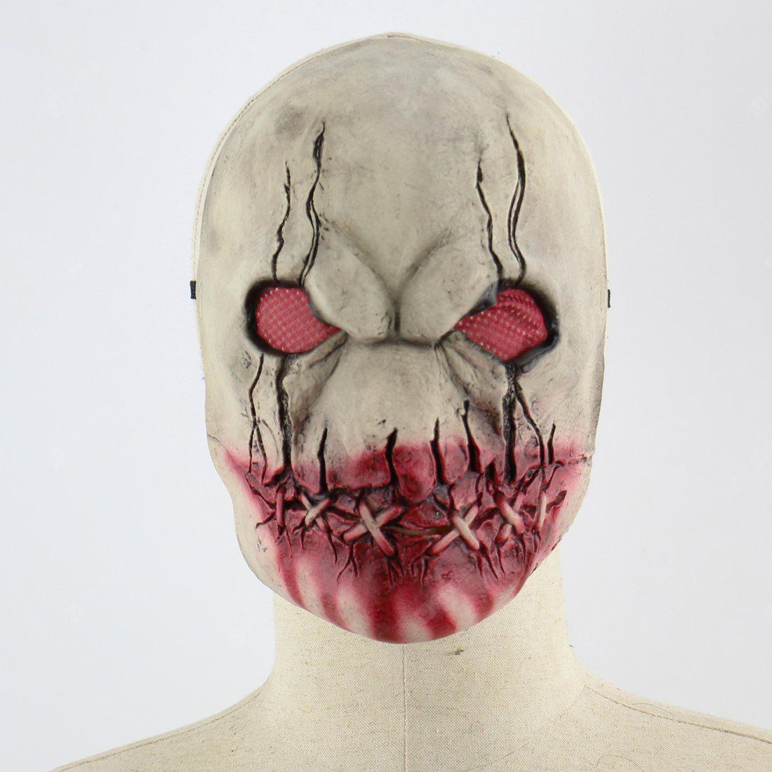 Latex Mask of Bleeding Mouth Head Pattern