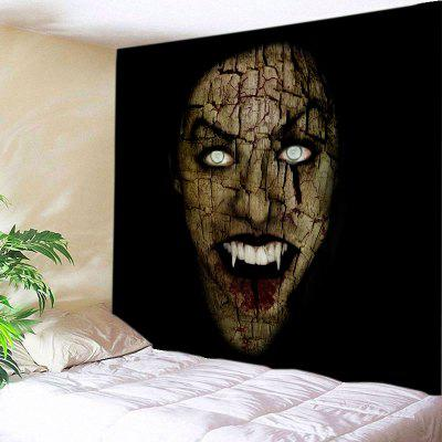 Buy BLACK Wall Hanging Art Decor Halloween Vimpire Print Tapestry for $16.31 in GearBest store