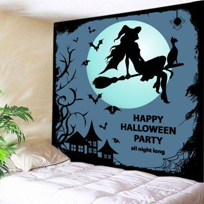 Buy BLACK Wall Hanging Art Decor Halloween Party Night Print Tapestry for $12.46 in GearBest store