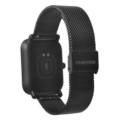 Mesh Wristband for Xiaomi Huami AMAZFITSmart Watch Accessories<br>Mesh Wristband for Xiaomi Huami AMAZFIT<br><br>Material: Stainless Steel<br>Package Contents: 1 x Wristband<br>Package size: 16.00 x 9.00 x 1.50 cm / 6.3 x 3.54 x 0.59 inches<br>Package weight: 0.0500 kg<br>Product size: 19.00 x 2.00 x 0.20 cm / 7.48 x 0.79 x 0.08 inches<br>Product weight: 0.0420 kg