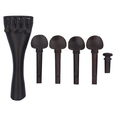 6pcs Music Instrument Parts Tailpiece Tuning Pegs and Endpin