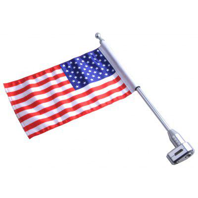 Motorcycle American Flag Pole Luggage Rack Vertical for Honda GoldWing GL1800 2001-2011
