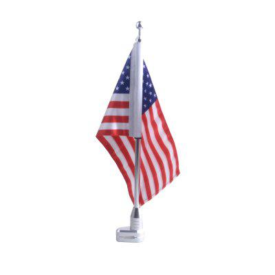 Motorcycle American FlagOther  Motorcycle Accessories<br>Motorcycle American Flag<br><br>Material: Aluminum Alloy<br>Package Contents: 1 x Flag<br>Package size (L x W x H): 41.00 x 6.30 x 5.00 cm / 16.14 x 2.48 x 1.97 inches<br>Package weight: 0.2300 kg<br>Product size (L x W x H): 40.00 x 5.30 x 3.00 cm / 15.75 x 2.09 x 1.18 inches<br>Product weight: 0.2100 kg