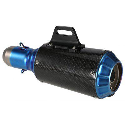Buy CARBON FIBER 38 51mm Blue Cover Motorcycle Refit Exhaust Muffler Silencer for $83.37 in GearBest store