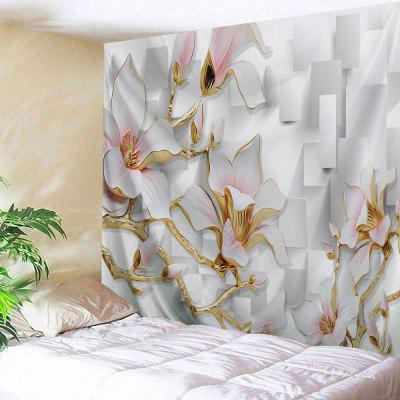 Wall Hanging Art Decor 3D Flowers Print Tapestry
