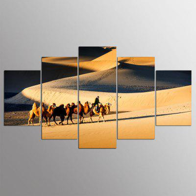 Buy COLORMIX 5PCS YSDAFEN Desert Printed Painting Canvas Print for $55.37 in GearBest store
