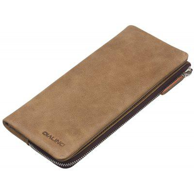QIALINO Oil Leather Mobile Pouch Bag for Samsung Galaxy S8 Plus