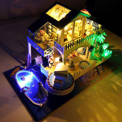 Buy COLORMIX DIY Miniature Romantic Style Dollhouse Set for Kids for $57.88 in GearBest store