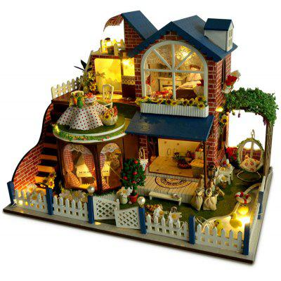 Buy COLORMIX DIY Miniature West Manor Style Wooden Dollhouse Set for $70.65 in GearBest store