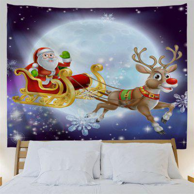 Christmas Sled Moon Night Wall TapestryTapestries<br>Christmas Sled Moon Night Wall Tapestry<br><br>Feature: Removable, Washable<br>Material: Polyester<br>Package Contents: 1 x Tapestry<br>Shape/Pattern: Animal,Moon<br>Style: Festival<br>Theme: Christmas<br>Weight: 0.1800kg