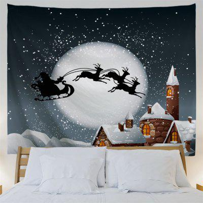 Christmas Sled Moon Wall Art TapestryTapestries<br>Christmas Sled Moon Wall Art Tapestry<br><br>Feature: Removable, Washable<br>Material: Polyester<br>Package Contents: 1 x Tapestry<br>Shape/Pattern: Animal,Buildings,Moon<br>Style: Festival<br>Theme: Christmas<br>Weight: 0.3800kg