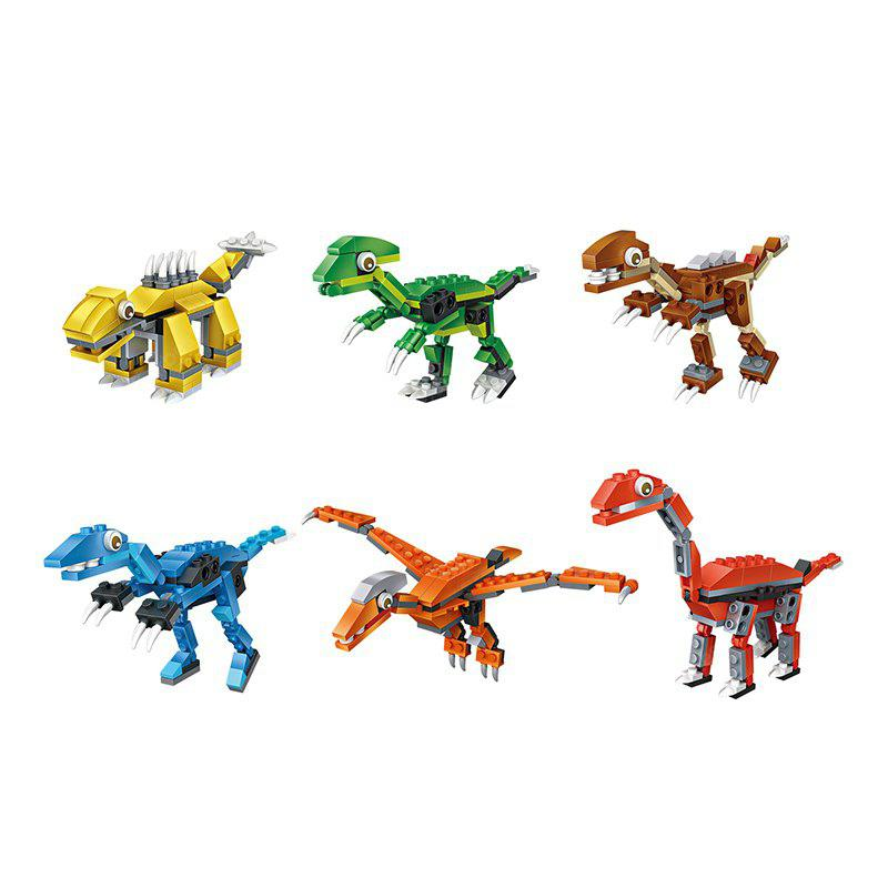 Buy LOZ Mini Dinosaur Building Blocks 6 Sets COLORMIX