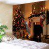 Christmas Fireplace Print Wall Decor Tapestry - COLORMIX