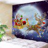 Christmas Sled Moon Night Wall Tapestry - COLORMIX