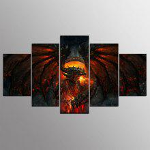 YSDAFEN kn - 519 Canvas Dragon Framed Prints 5PCS
