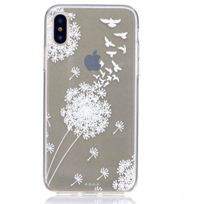 TPU Swallows Pattern Cover Case for iPhone X