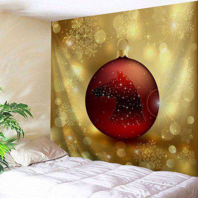 Christmas Ball Print Wall Tapestry