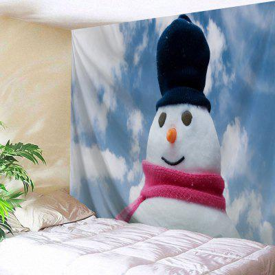 Wall Decor Christmas Snowman Print Tapestry